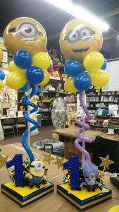 Best Of Minion Party Ideas Awesome Minions First Birthday Centerpiece Balloons
