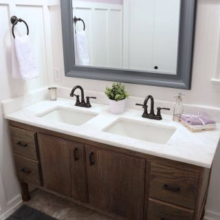 Craftsman Bathroom Vanity Awesome before & after How to Build A Diy Bathroom Vanity From