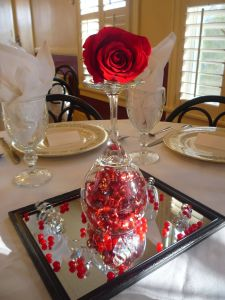 Dining Room Valentine Day Decoration Awesome 2 Love Valentines Dinner Centerpiece