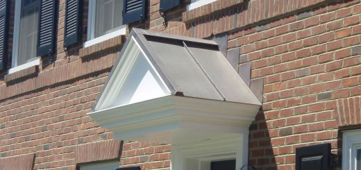 Dutch Gable Roof Luxury Slightly Aged Copper A Frame Standing Seam Roof Over Door