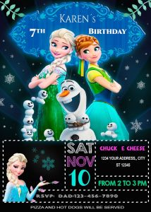 Elsa Frozen 2 Bedroom Decorating Ideas Awesome Frozen Invitation for Girls Customizable Digital Birthday