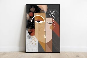 Exceptional Home Office Wall Decor Awesome Earth Wall Art Print Abstract Faces Art