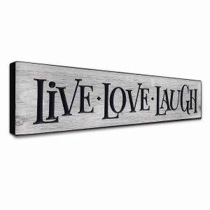 Fantastic Live Laugh Love Decor Unique Details About Wall Art Decor Plaque Sign Live Laugh Love Rustic Farmhouse Gray Gift New