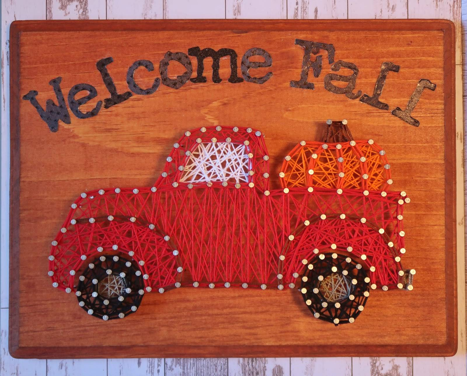 Wel e Fall String Art Pickup Truck 0919 002 JPG