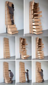 Fantastic Under Stair Shoe Storage Awesome Vertical Staircase Shelf by Danny Kuo