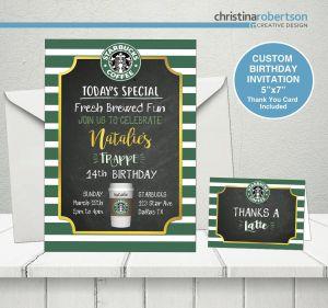 Fresh Design Birthday for Girls Lovely Starbucks Party Starbucks Birthday theme Starbucks