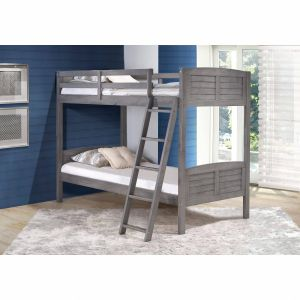 Fresh Design Loft Bed Sale Luxury Donco Kids Antique Grey Louver Twin Over Twin Bunk Bed Twin