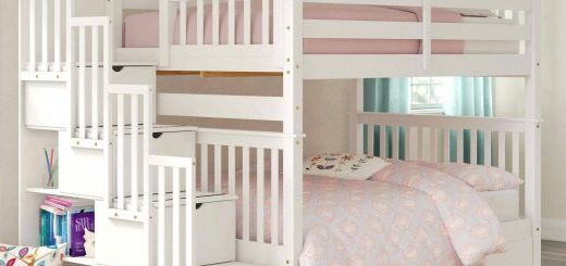 Fresh Design Loft Bed Sale Luxury Harriet Bee Tena Full Over Full Stairway Bunk Bed with