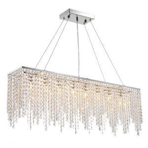 High End Chandeliers Fresh Raindrop island Chandelier Crystal Pendant Light