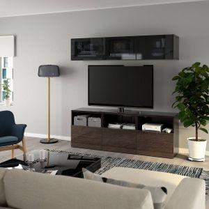 Ikea Entertainment Center Best Of Ikea Best… Tv Storage Bination Glass Doors Black Brown