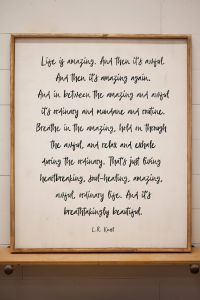 Incredible Decorative Wall Plaques Quotes Inspirational Life is Amazing Sign L R Knost Inspirational Quote