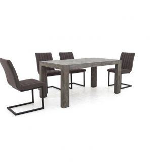 Industrial Dining Chairs Fresh Tucson Extending Dining Table and 4 Dining Chairs In 2019