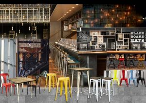 Inspirational Coffee Shop Wall Design Luxury Moodboard for A Cafe Industrial theme with Boho Furniture