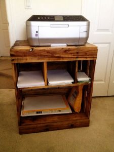 Inspirational Diy Table Legs Ideas Inspirational Pallet Printer Stand My Husband Made