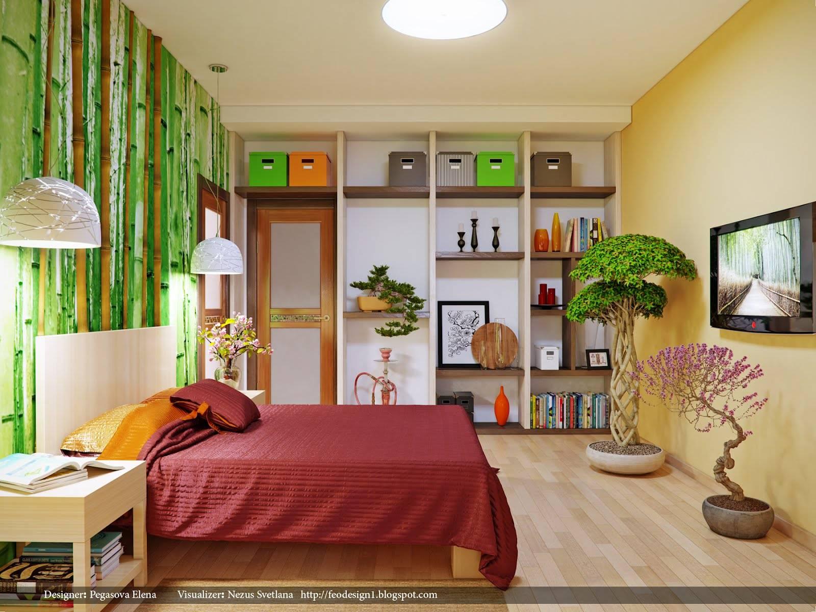 bamboo wall treatment