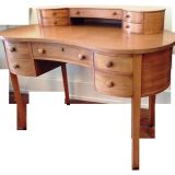 Kidney Shaped Desk New Mahogany Kidney Shaped Desk $2200 On Chairish