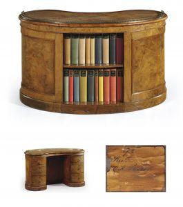 Kidney Shaped Desk Unique An Early Victorian Figured Walnut Kidney Shaped Desk