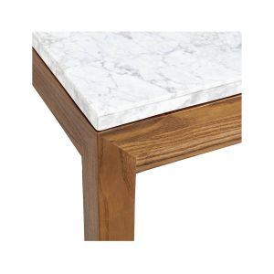 Marble Console Table New Parsons White Marble top Elm Base 60x36 Rectangular
