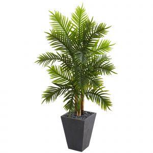 New Artificial Decorative Indoor Trees Unique Artificial Tree 5 5 Foot areca Palm Tree with Slate