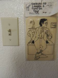 New Cool Light Switches Unique Vintage Switch Plate Cover 1976 Flash It Gag Funny New Old