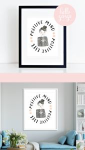 New Decorative Signs with Sayings Unique Motivational Quote Wall Art Positive Mind Positive Life
