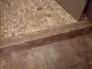 No Threshold Shower Elegant Shower Curb Tile Ideas