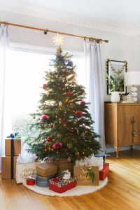Picturesque Decorated Skinny Christmas Trees Elegant at Home with Ginny for Christmas