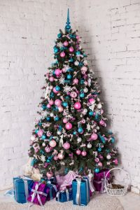 Picturesque Decorated Skinny Christmas Trees Luxury Decorated Christmas Tree White Background