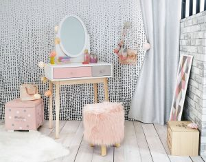 Picturesque Dressing Table Designs Luxury Blush Pink Grey and White Children S Dressing Table