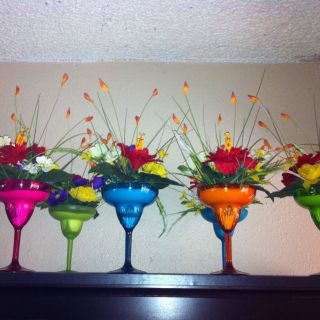 Picturesque Mexican themed Party Centerpieces Luxury Fiesta Party Centerpieces Plastic Margarita Glasses Filled