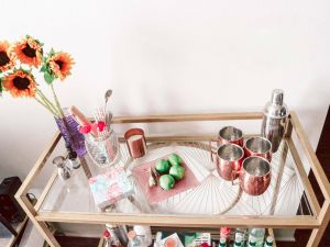 Remarkable Bar Cart Decorating Ideas Awesome Summer Bar Cart Styling Running In Heels