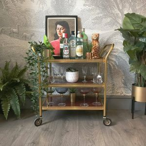 Remarkable Bar Cart Decorating Ideas Awesome Vintage Retro 1970s 3 Tier Gold Drinks Cart Bar Cart