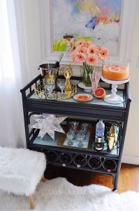 Remarkable Bar Cart Decorating Ideas Elegant Bar Cart Entertaining Barcartdecorinspiration