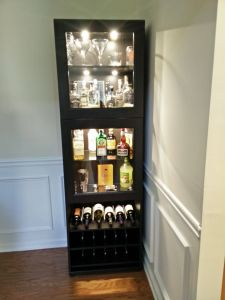 Remarkable Glass Cabinets for Living Room Lovely Ikea Liquor Cabinet Build
