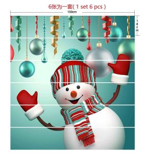 Remarkable Outside Inflatable Christmas Decorations Awesome 6pcs Set Christmas Snowman 3d Stair Risers Stickers Set