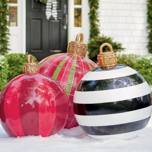 Remarkable Outside Inflatable Christmas Decorations Inspirational these Oversized Christmas ornaments are so Much Better Than