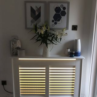 Remarkable Radiator Covers Awesome Radiator Cover with Hidden Led Strip Lights Very Effective