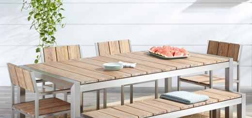 Rustic Outdoor Furniture Beautiful Macon 6 Piece Rectangular Teak Outdoor Dining Table Set
