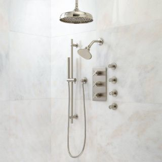 Shower Head Height Beautiful Exira thermostatic Shower System Dual Shower Heads Hand
