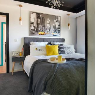 Unique Black and White Bedrooms with A Splash Of Color Beautiful Grey with A Splash Of Colour