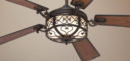 "Unique Ceiling Fans New 54"" Hermitage™ Golden forged Outdoor Ceiling Fan"