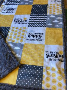 Unique Gray and Yellow Bedding Inspirational You are My Sunshine Blanket Yellow Gray Designer Minky Faux