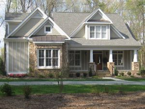 White Craftsman House Awesome attractive Rustic Roofing with Awesome Stones Wall Exposed