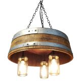 Wine Barrel Chandelier Fresh 1 4 Wine Barrel & Mason Jar Pendant Light Chandelier Wine