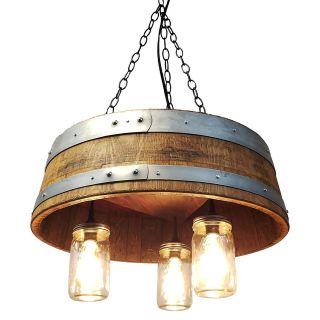 Wine Barrel Chandelier Fresh 1 4 Wine Barrel & Mason Jar Pendant Light Chandelier Wine