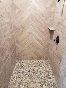 Wood Tile Shower Beautiful Sliced Bali Ocean Pebble Tile In 2020