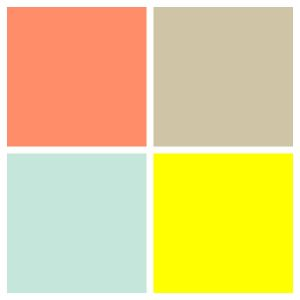 Yellow and Tan Fresh Color Palette for Uni Gender Neutral Nursery Salmon