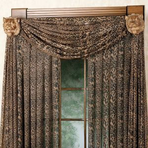 Bay Window Valance Best Of Leopard Curtains and Valance Want them for My Living Room