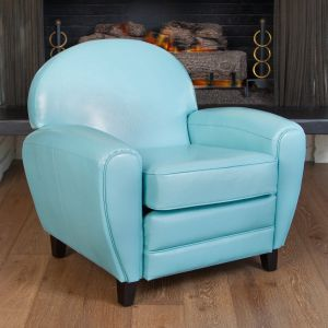 Blue Leather Chair Awesome Hayley Teal Blue Leather Cigar Club Chair