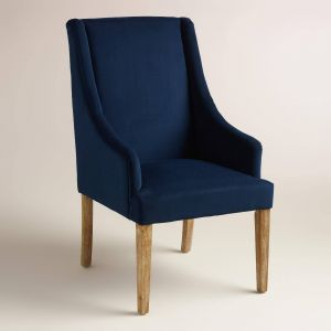 Blue Leather Chair Lovely Ink Blue Jayda Dining Chair